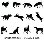 Stock vector dogs silhouette vector 106321136