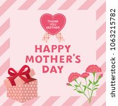 mother's day greeting card with ... | Shutterstock .eps vector #1063215782