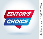 editor's choice arrow tag sign. | Shutterstock .eps vector #1063215926