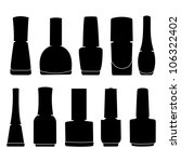 nail polish vector | Shutterstock .eps vector #106322402