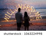 surprise propose merry me to wedding fire sunset