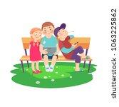 cartoon children rest in the... | Shutterstock .eps vector #1063225862