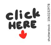 click here. sticker set for... | Shutterstock .eps vector #1063232978