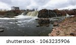 the big sioux river flows over...   Shutterstock . vector #1063235906