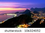 night view of copacabana beach  ... | Shutterstock . vector #106324052