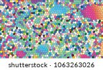 abstract colorful mosaic.... | Shutterstock .eps vector #1063263026