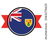 turks and caicos flag in glossy ... | Shutterstock .eps vector #1063270625