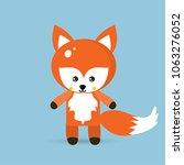 vector image of a fox design on ... | Shutterstock .eps vector #1063276052