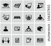 higher education icons set.... | Shutterstock .eps vector #106327832