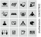 higher education icons set.... | Shutterstock .eps vector #106327832