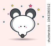 vector image of a mouse design...   Shutterstock .eps vector #1063280312