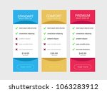 set of offer tariffs. interface ... | Shutterstock .eps vector #1063283912