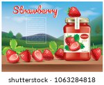 strawberry jam ads.illustration ... | Shutterstock .eps vector #1063284818