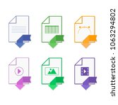 file format. icon set.  flat... | Shutterstock .eps vector #1063294802