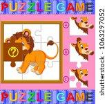 vector illustration of jigsaw... | Shutterstock .eps vector #1063297052