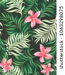 tropical vector pattern with... | Shutterstock .eps vector #1063298075