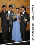 Small photo of Cast of 'Slumdog Millionaire' in the Press Room at the 15th Annual Screen Actors Guild Awards. Shrine Auditorium, Los Angeles, CA. 01-25-09