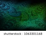 intricate green  blue and teal... | Shutterstock . vector #1063301168