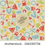 vector summer pattern  ... | Shutterstock .eps vector #106330736