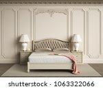 classic bedroom furniture in... | Shutterstock . vector #1063322066