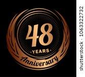 48 years anniversary.... | Shutterstock .eps vector #1063322732