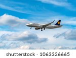 airport frankfurt germany  june ... | Shutterstock . vector #1063326665