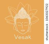 happy vesak day. illustration... | Shutterstock .eps vector #1063327922