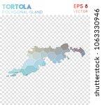 tortola polygonal  mosaic style ... | Shutterstock .eps vector #1063330946