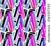 seamless urban funky geometric ...   Shutterstock .eps vector #1063337555