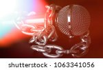 microphone and chain. freedom... | Shutterstock . vector #1063341056