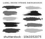 modern label brush stroke... | Shutterstock .eps vector #1063352075