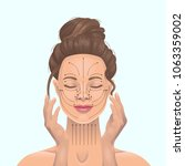 facial massage on the lines.... | Shutterstock .eps vector #1063359002