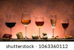 Set Of Different Types Of Wine...
