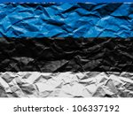 the estonian flag painted on...   Shutterstock . vector #106337192