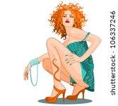 cover girl | Shutterstock .eps vector #106337246