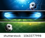 sport football or soccer... | Shutterstock .eps vector #1063377998