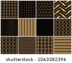 golden texture with black color ... | Shutterstock .eps vector #1063382396