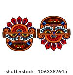 colored dooble sided indian... | Shutterstock .eps vector #1063382645