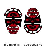 colored dooble sided indian... | Shutterstock .eps vector #1063382648