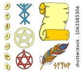 vector mystic magic esoteric... | Shutterstock .eps vector #1063385306