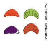 croissant icon set. color... | Shutterstock .eps vector #1063388792