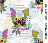 abstract floral elements... | Shutterstock .eps vector #1063395785