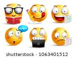 Smiley face vector set for back ...