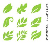 leaf icon set | Shutterstock .eps vector #1063411196