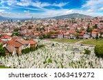 a muslim cemetery in a... | Shutterstock . vector #1063419272