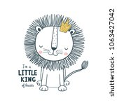 little king. vector... | Shutterstock .eps vector #1063427042