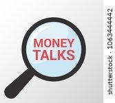 finance concept  magnifying... | Shutterstock .eps vector #1063444442