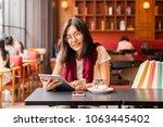 lifestyle  technology  concept ... | Shutterstock . vector #1063445402