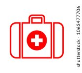 first aid kit  medical help... | Shutterstock .eps vector #1063477706