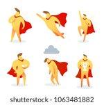 vector set of illustration of... | Shutterstock .eps vector #1063481882